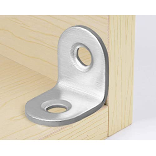 Reinforcing Something 40x40x17mm Cabinets,Furniture Making Repuhand 10 Pcs Corner Bracket L Right Angle Brackets 90 Degree Angle Braces with Screws for Wardrobes