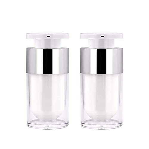 41cd22f61a35 Airless Pump Bottle, Yebeauty 15ml 2 Pack Small Pump Botte Empty Bottles  Cosmetic Lotion Pump Container Travel Containers