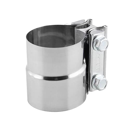 EVIL ENERGY 2.5 ID 2 1//2 Lap Joint Exhaust Band Clamp Preformed 304 Stainless Steel
