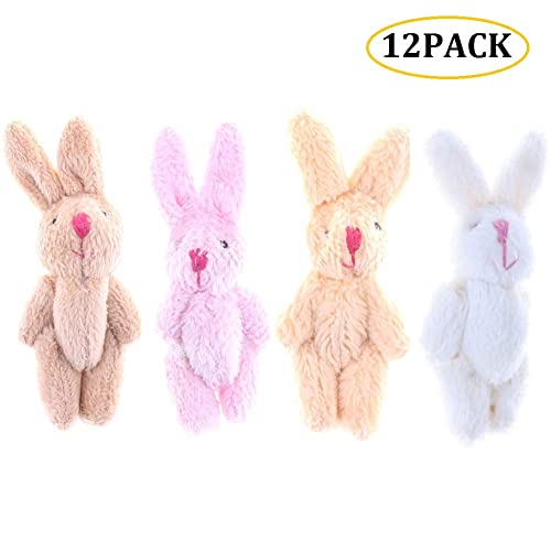Super Soft Stuffed Animals For Babies, Cheeseandu 12pcs 6cm Plush Mini Joint Wool Rabbit Stuffed Animal Toys Wedding Gift Box Doll Toy For Birthday Cake Wedding Decorations Party Favors Supplies Bag Diy Accessory 4colors Buy Products Online With
