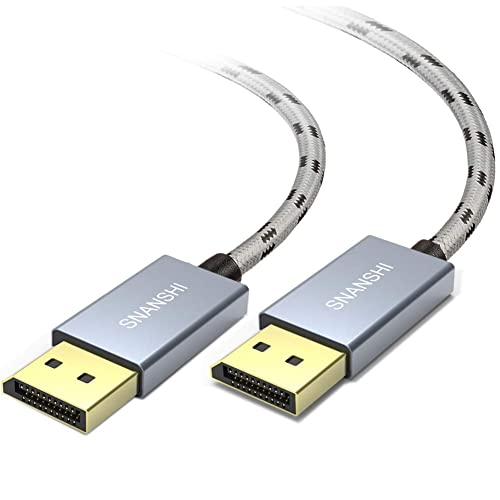 4K DisplayPort DP 1.2 Cable BolAAzuL DisplayPort to DisplayPort Cord DP Male to DP Male Cable 4K//60 Hz 2K//144Hz with Latches