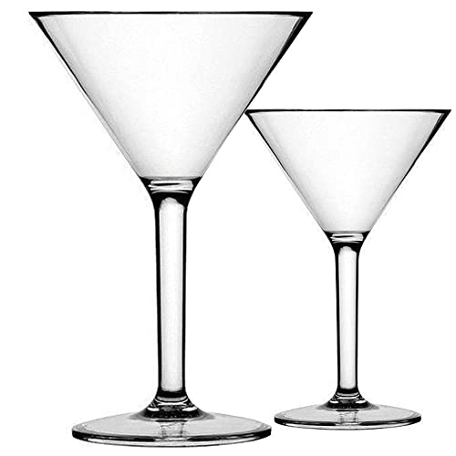 - By Barski European Quality with Vertical Lines Glass Martinis Made in Europe Stemless Cocktail Set of 6-11 oz Martini//Stemless Coccktail Glasses 11 Ounces