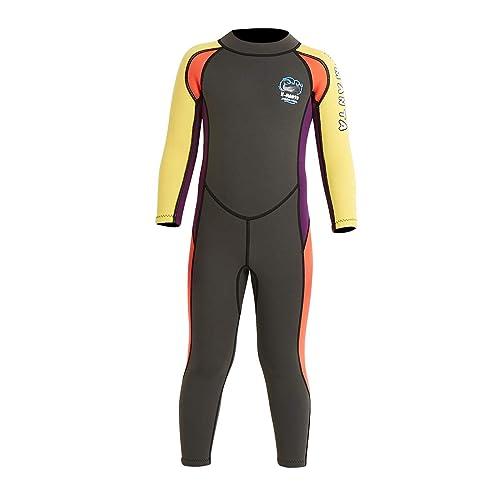 Kid/'s Wetsuit Premium Neoprene 3mm Children//Toddle//Youth Swim Suit 3-4 Years