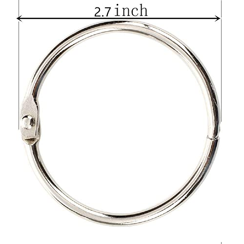 Pawfly 12 Pack 3 Inch Loose Leaf Binder Rings Large Book Ring