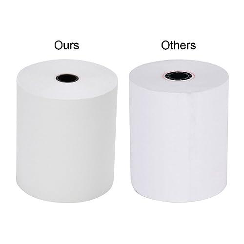 Thermal Paper Cash Registers Rolls 2 1//4 x 165 W57mm x L50m BPA Free POS Receipt Paper Roll 5 Rolls