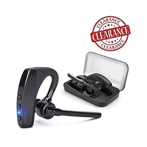 490ce7f612b Bluetooth Headset, Wireless Bluetooth Earpiece Headphones Earbuds Ear Hooks  Earphones with Mic and Carrying Case