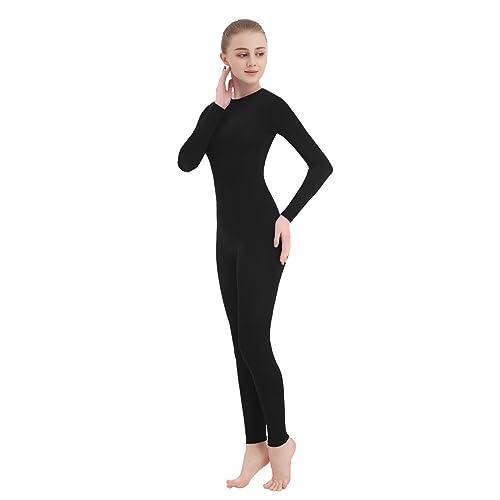 CUTECATCOS Unisex Lycra Spandex Unitard Turtleneck Full Fingers Footed Bodysuit Costume
