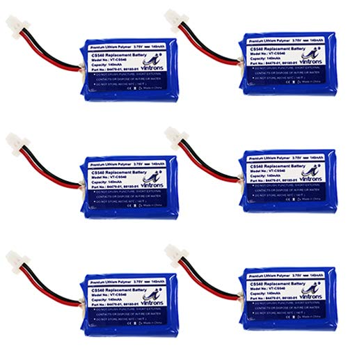 Vintrons Cs540 C054 Replacement 86180 01 84479 01 Battery For Plantronics Cs540 Wireless Headset 86180 01 84479 01 Pack Of 6 Buy Products Online With Ubuy Kuwait In Affordable Prices B07ycsdj78