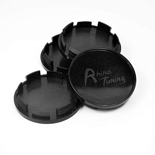 //58mm 4pcs 64.5mm Wheel Center Caps Black Base for 300c Generation 2 2012-2015 Gen 1 2005-2010 Mustang 2005-2014 2.52in 2.28in