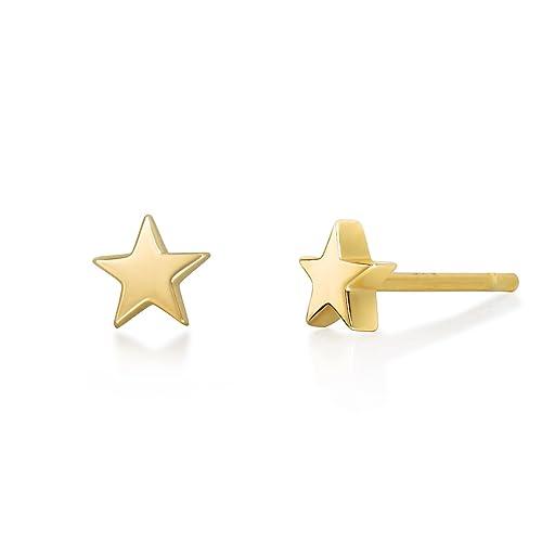 36ec3841a Buy S.Leaf Tiny Star Earrings Sterling Silver Star Stud Earrings for Women  with Ubuy Kuwait. B07G43G16M