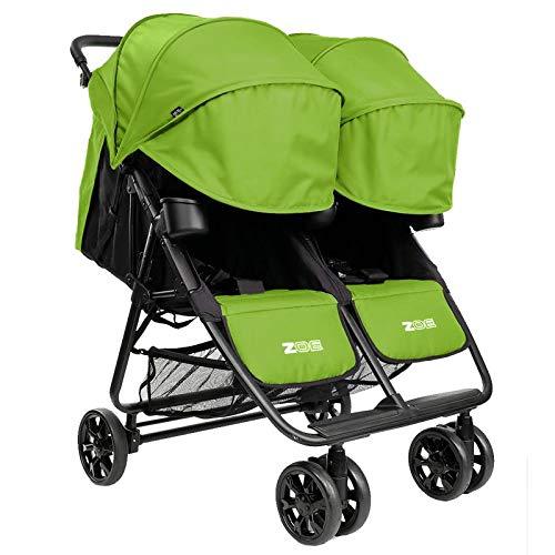 Noah Grey ZOE XL2 Best v2 Lightweight Double Travel /& Everyday Umbrella Twin Stroller System