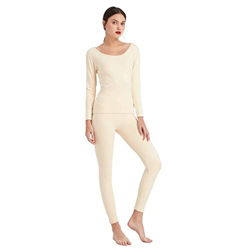 Mcilia Womens Ultra Soft Fleece Lined Thermal Long Sleeve Base Layer Top