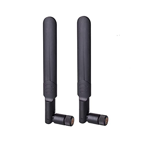 RHsia 3G 4G Dipole Antenna Wide Band 5dbi 700-2600Mhz Omni Directional GSM WiFi Antenna with SMA Male Connector for CEP Router Access Point Wireless Rang Extender and More 2 Pack 4G LTE Antenna