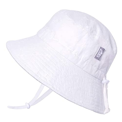 Stay-on Tie Adjustable Good Fit Jan /& Jul Baby Unisex Cotton Sun Hat 50 UPF S: 0-6m, Little Anchor