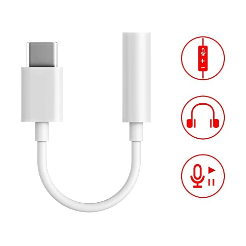//Huawei P20 Pro//Mate 10 Pro//Mate 20 Pro Xiaomi Mi 8//Mix 2 Samsung Note9+//S9+ OnePlus 6T 12.9-inch/&11-inch USB C 3.5mm Adapter Type C Audio Jack Adapter Compatible with pad Pro 2 Pack
