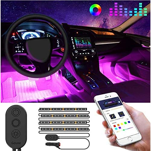 DC 12V AMBOTHER Interior Car Lights with USB//Cigarette Lighter 72 LEDs Car Interior Lights Multicolor Music Sync Remote Controller Atmosphere Under Dash LED Strip Lighting Kit with Long Wire for Cars