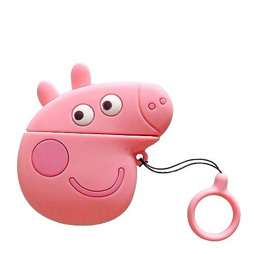 Airpods Cute Case 3d Cartoon Pink Pig Piggy Airpods Cover Soft