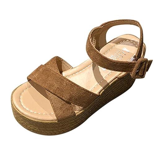 cd481fd84 Buy BEAUTYVAN Womens Platform Wedge Sandals Open Toe Cork Ankle Strap  Summer Espadrilles Heel with Ubuy Kuwait. B07Q6C5X75