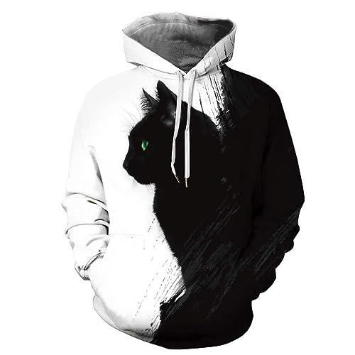 ArtistMixWay Unisex 3D Digital Printed Athletic Pullover Hoodies Sweatshirts S-XXL