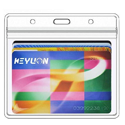 c3107efaf3db Buy KEYLION 10 Pack Heavy Duty Horizontal ID Card Name Tag Badge ...