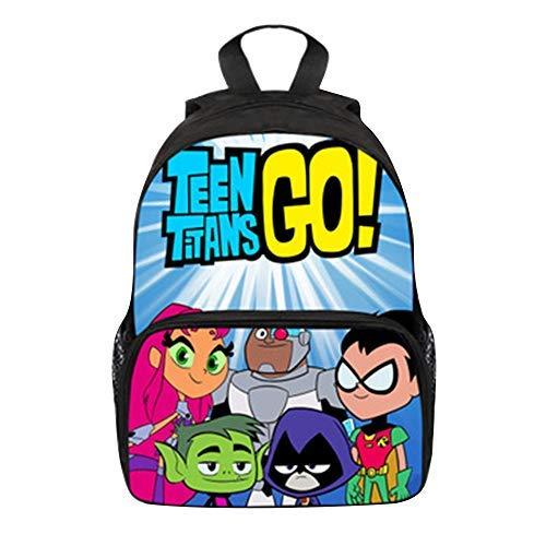 3D Cartoon Teen Titans Go Backpack Kids School Bag Laptop Satchel Rucksack UK
