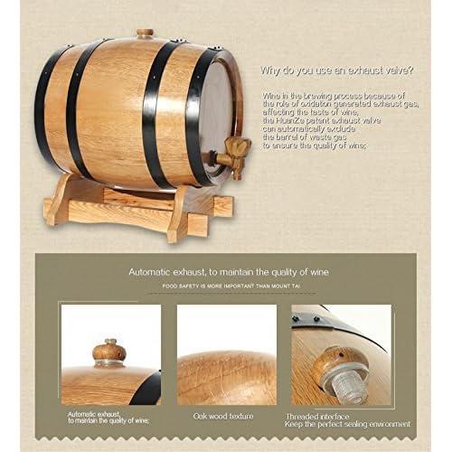 5L Oak Aging Barrels Whiskey Barrel Dispenser Wine Bucket for Storage Wine /& Spirits /& Whisky with baked oak chips