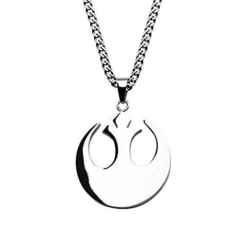 Rebel Alliance Symbol Star Wars Glass Cabochon Necklace USA Stock
