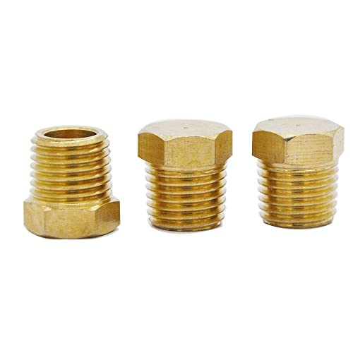 Pack of 10 MacCan Pneumatic JDN-N3 Hex Drive Countersunk Plug 3//8 NPT Male Pipe Nickel Plated Brass Pipe Fitting