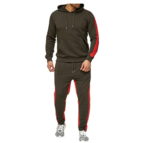 URBEX Mens Athletic 2 Piece Tracksuit Set Long Sleeve Jacket Casual Loose Sweatshirt Drawstring Hoodie
