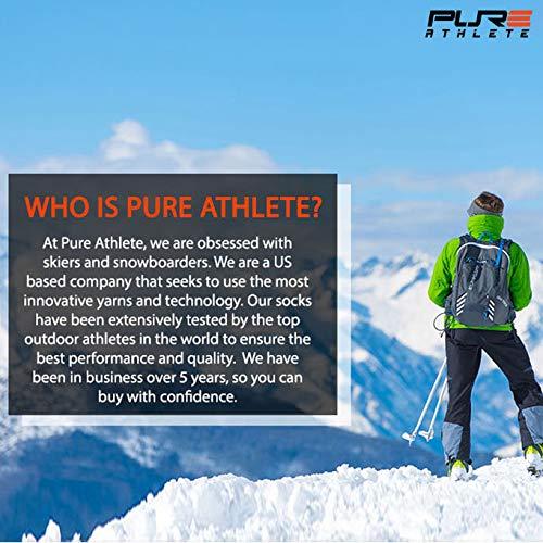 -Silver 2 2 2 Warm Comfortable Snowboard // Skiing Socks , Small//Medium -Orange 6 Pairs - Blue Elite Wool Race Ski Socks