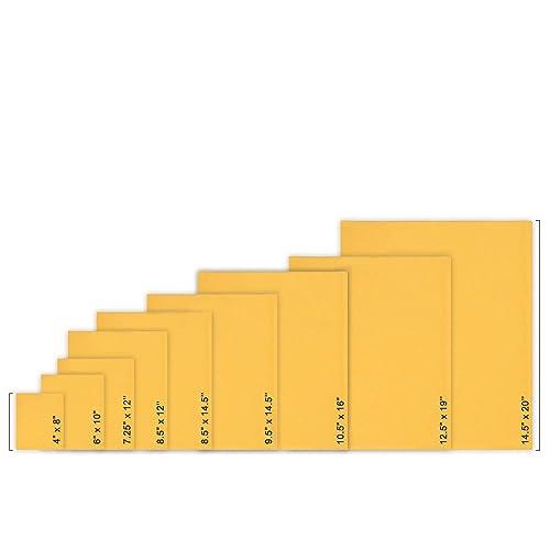 Bubble Mailer Padded Envelopes Self Adhesive Sealing Strip 9 1//2 x 14 1//2 Inch Kraft Golden Yellow Brown 100 Pack