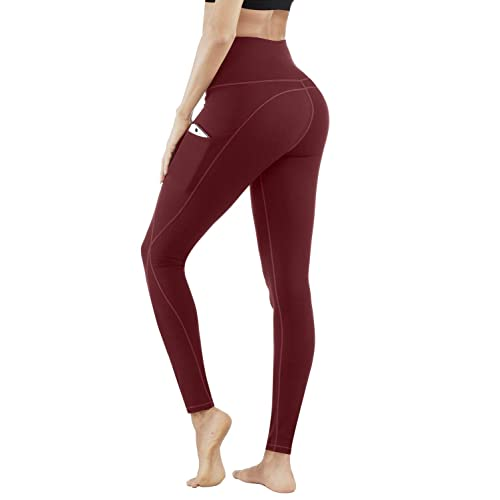 65f01face4897 Buy PHISOCKAT High Waist Yoga Pants with Pockets, Tummy Control & Butt  Lifting, 4 Way Stretch Women Yoga Leggings with 3 Pockets with Ubuy Kuwait.