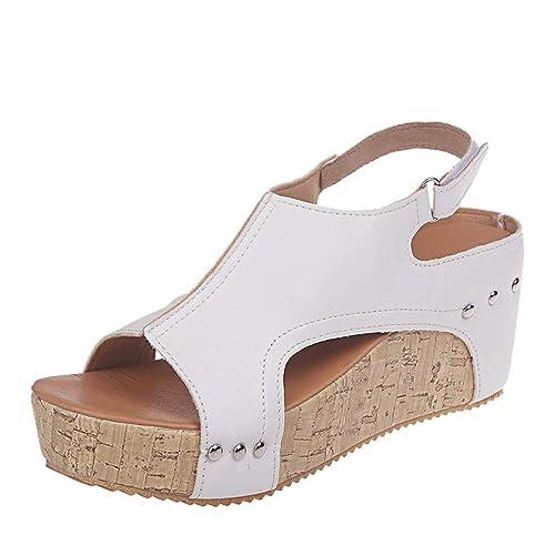 d2a8d6c17d1a4 Buy Women Platform Wedges Sandals - Summer Cutout Open Toe Ankle ...