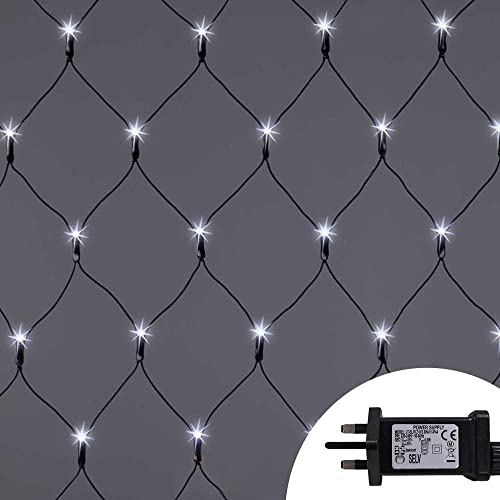 Icicle Lights 320 LED 11m Warm White Outdoor Christmas Lights Indoor String Fairy Lights Timer Memory Mains Powered 36ft Lit Length String Lights 10m//32ft Lead Wire Clear Cable