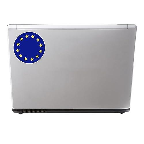2 x 10cm EU Europe Flag Map Vinyl Sticker Decal Car Laptop European Union #9474