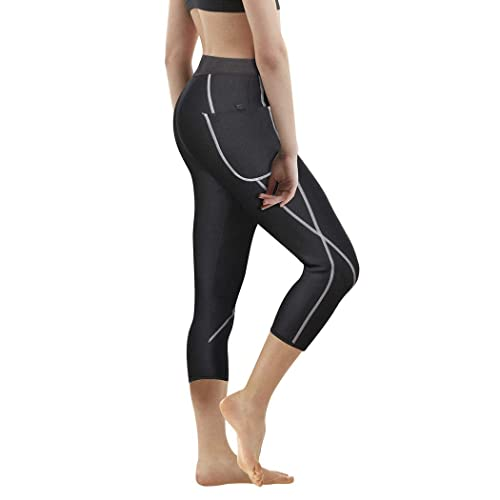 Bingrong Neoprene Sauna Sweat Pants for Weight Loss with Side Pocket Fat Burning Hot Thermo Slimming Leggings
