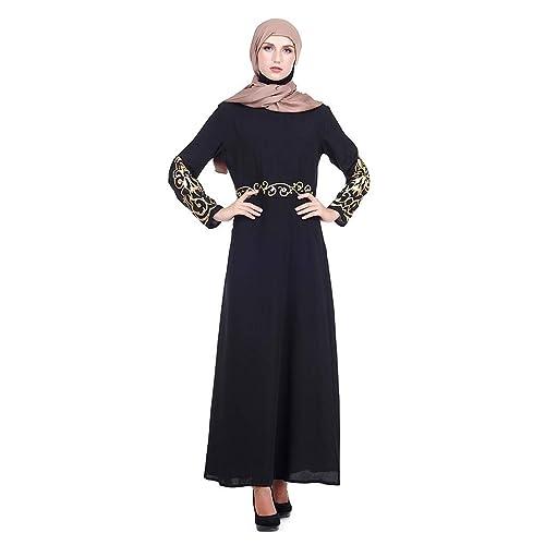 Bravetoshop Muslim Dress Chic Women Kaftan Abaya Slim Muslim Hot Stamping  Party Dresses Kaftan Abaya Ramadan   Buy Products Online with Ubuy Kuwait  in Affordable Prices. B07NTLDQPP