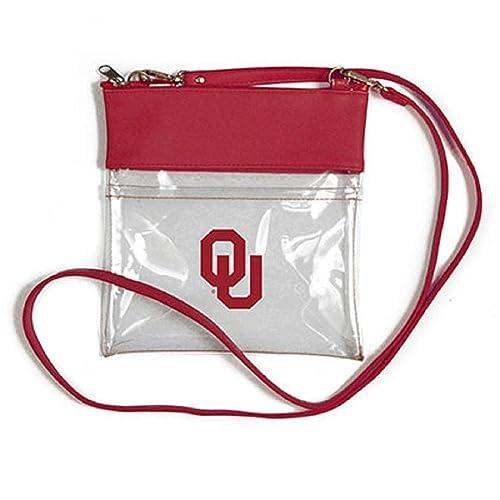 Inch Littlearth Oklahoma Sooners  NCAA Envelope Purse 10 x 0.5 x 6.5 Clear