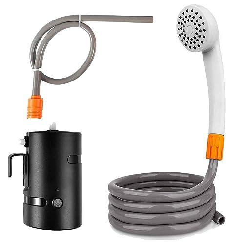Indoor Handheld Hook Camping Shower with Water Pump for Travel Pet Garden Hiking
