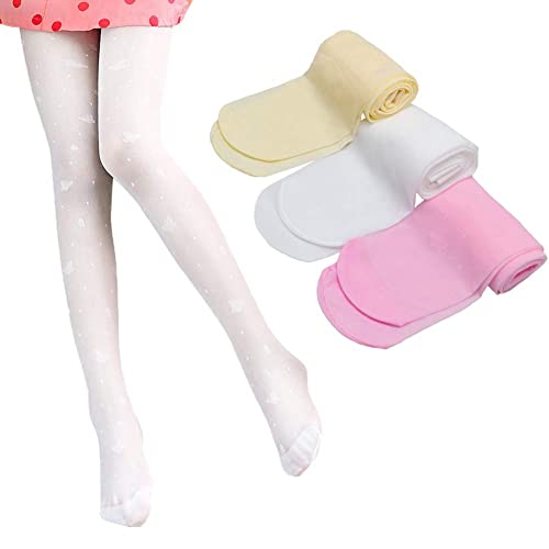 Looching 3 Pack Girls Dance Tights Ultra Thin Transparent Butterfly Pattern Stocking Pantyhose for Baby Kids Girls