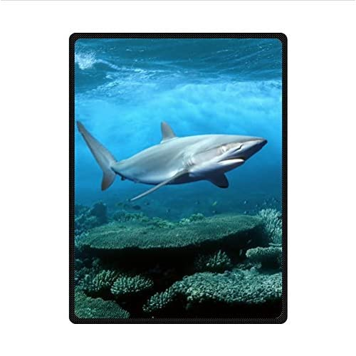 Buy Custom Great White Shark Super Soft Fleece Blanket 58 X 80 Large Online In Kuwait B00lgbwb40
