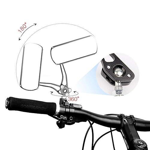 Bairuiou 360/° Adjustable Rotatable Bike Mirror 2 Pack Safe Rearview Bicycle Convex Mirror