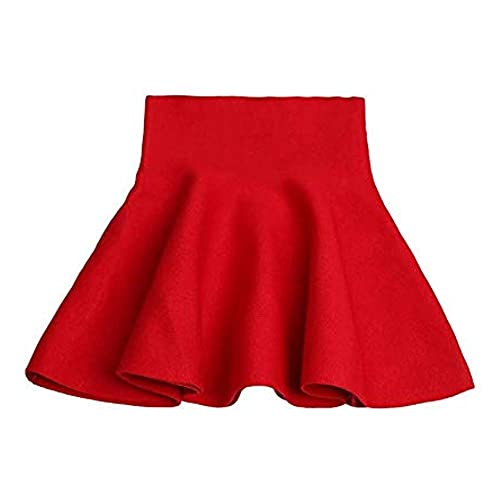 OCHENTA Girls Knitted Flared Pleated Casual Mini Skirt