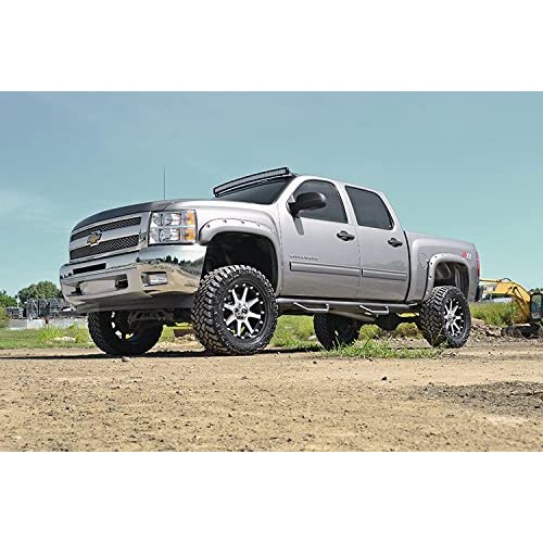 F-C10716 fits Rough Country Pocket Fender Flares 6.5//8 FT Bed Bolt On Style 2007-2013 GMC Sierra 1500