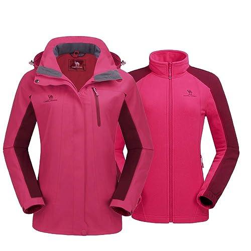 10afc42d Buy CAMEL CROWN Women's Ski Jacket Winter Jacket Waterproof 3 in 1 ...