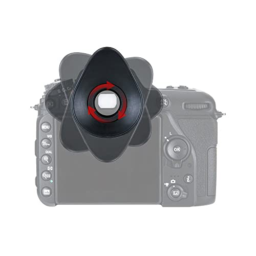 2+2Pack D5300 D3400 Eyepiece Eyecup Viewfinder Eye Cup,ULBTER DK-25 Compatible with Nikon D5500 D5300 D5100 D3500 D3400 D3200 D3300 D3100 D3000 D5600 D5000 D5200 Digital Camera /& Hot Shoe Cover