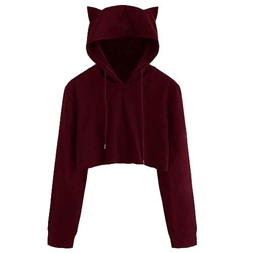 Plus Size Cute Hoodie Teddy Bear Pullover Hooded Jumper Winter Warm Girls Blouse Jumper Whycat Women Fuzzy Hoodie Loose Casual Pocket Tops