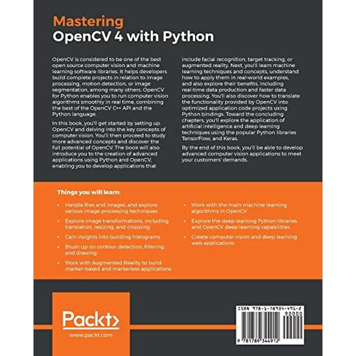 Buy Mastering OpenCV 4 with Python: A practical guide