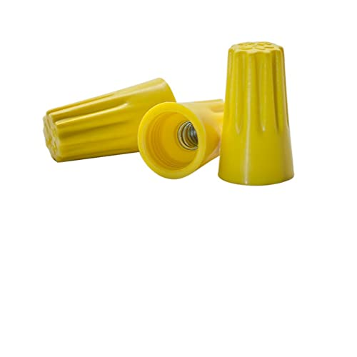 Easy Twist-On Ribbed Cap 200 PCS Yellow Winged Wire Connectors UL Listed and CSA Certified