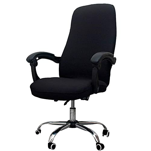 Buy Melaluxe Office Chair Cover Universal Stretch Desk Chair Cover Computer Chair Slipcovers Size L Black Online In Kuwait B086byz869